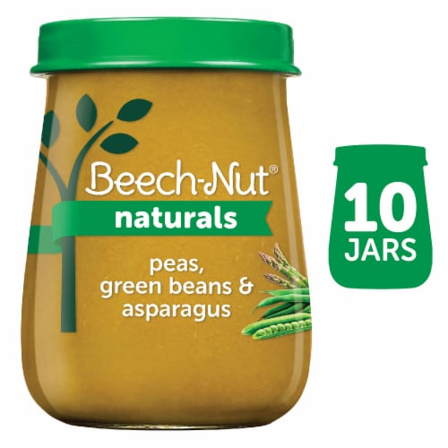 Beech-Nut Naturals Peas Green Beans & Asparagus Stage 2 Baby Food Perspective: front