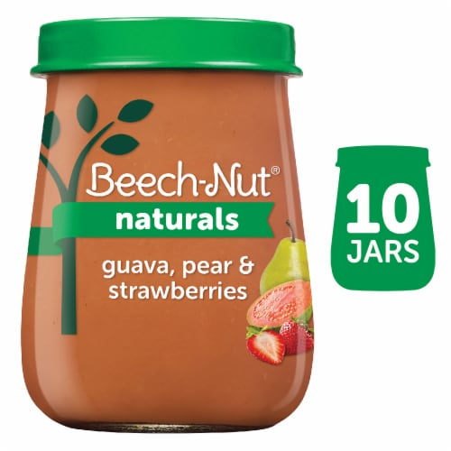 Beech-Nut Naturals Guava Pear & Strawberries Stage 2 Baby Food Perspective: front