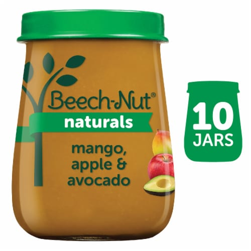 Beech-Nut Naturals Mango Apple & Avocado Stage 2 Baby Food Perspective: front