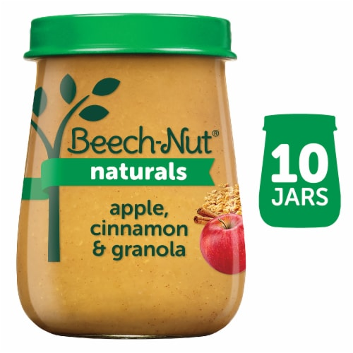 Beech-Nut Naturals Apple Cinnamon & Granola Stage 2 Baby Food Perspective: front