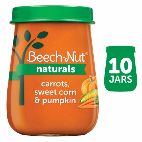 Beech-Nut Naturals Carrots Sweet Corn & Pumpkin Stage 2 Baby Food 10 Count Perspective: front