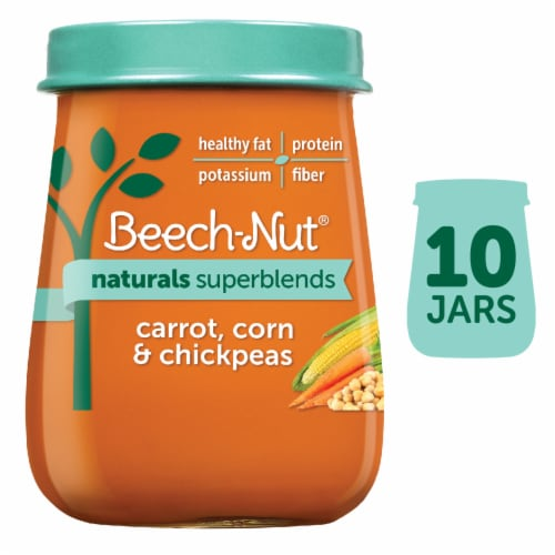 Beech-Nut Naturals Superblends Carrot Corn & Chickpeas Stage 3 Baby Food Perspective: front
