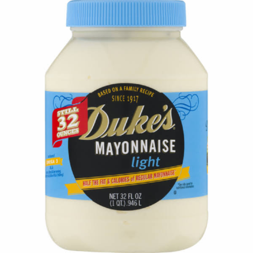 Duke's Mayonnaise Light, 32 Fl oz (Pack of 12) Perspective: front