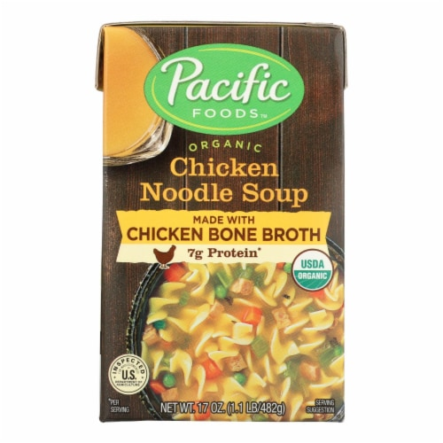 Pacific Natural Foods Chicken Noodle Soup - Case of 12 - 17 OZ Perspective: front