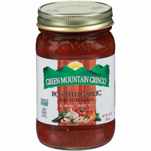 Green Mountain Gringo Medium Salsa - Garlic - Case of 12 - 16 oz. Perspective: front