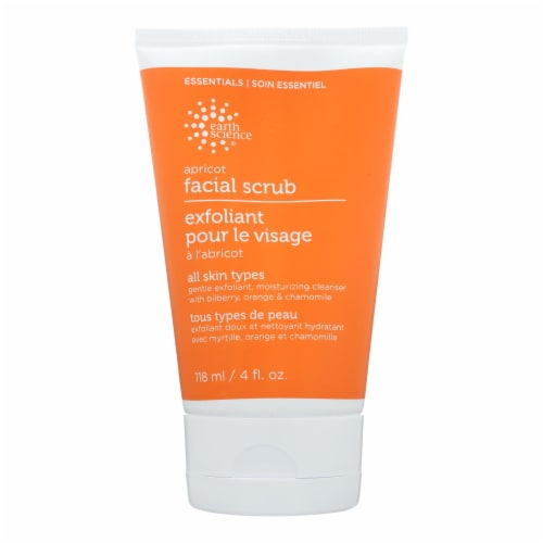 Earth Science Facial Scrub Apricot Gentle - 4 fl oz Perspective: front