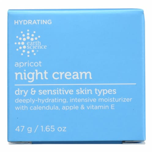 Earth Science Apricot Night Cream - 1.65 oz Perspective: front