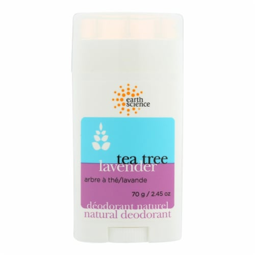 Earth Science Natural Tea Tree Deodorant Lavender - 2.5 oz Perspective: front