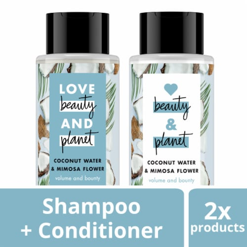 Love Beauty and Planet Coconut Water & Mimosa Flower Shampoo/Conditioner 2 Count Perspective: front