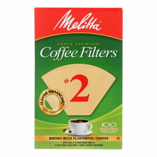 Melitta - Cone Filters Brown #2 - Case of 12 - 100 CT Perspective: front