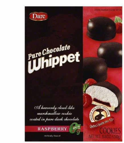Dare Raspberry Pure Chocolate Whippet Cookies, 8.8 OZ (Pack of 12) Perspective: front