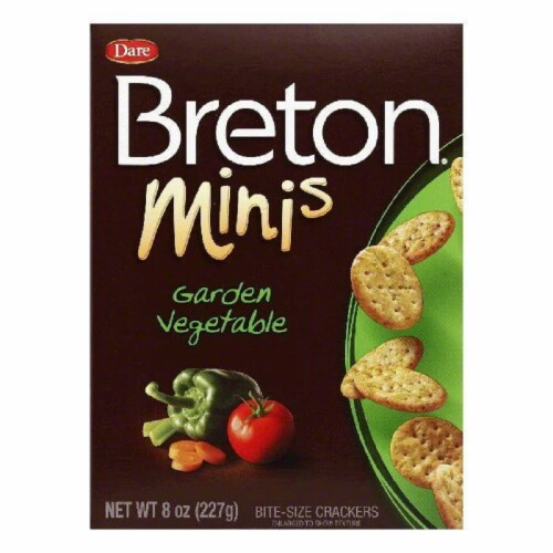 Dare Breton Crackers Minis Garden Vegetable, 8 OZ (Pack of 12) Perspective: front