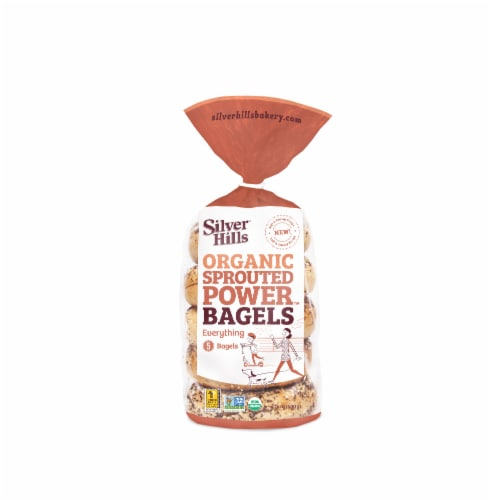Silver Hills Organic Sprouted Everything Bagel, 14 Ounce -- 8 per case. Perspective: front