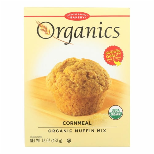 European Gourmet Bakery - Muffin Mix Cornmeal - Case of 6-16 OZ Perspective: front