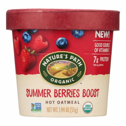 Nature's Path Organic Summer Berries Boost Hot Oatmeal Perspective: front