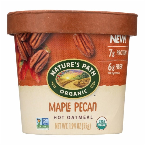 Nature's Path Organic Maple Pecan Oatmeal Perspective: front