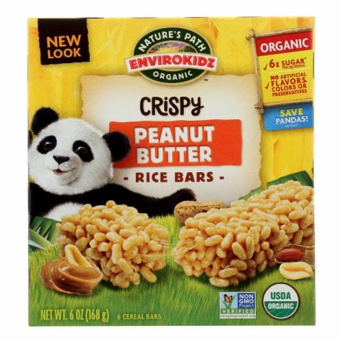 Envirokidz - Crispy Rice Bars - Peanut Butter - Case of 6 - 6 oz. Perspective: front