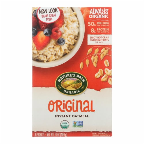 Nature's Path Organic Hot Oatmeal - Original - Case of 6 - 14 oz. Perspective: front