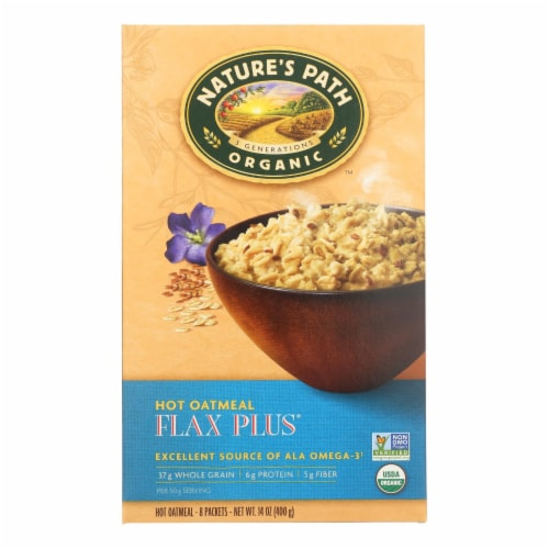 Nature's Path Organic Flax Plus Hot Oatmeal (6 Pack) Perspective: front