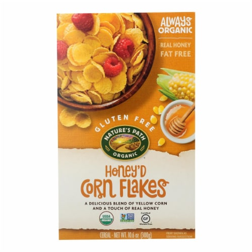 Nature's Path Organic Corn Flakes Cereal -Honey'D - 10.6 oz Perspective: front