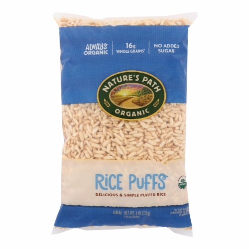 Nature's Path Organic Rice Puffs Cereal - Case of 12 - 6 oz. Perspective: front
