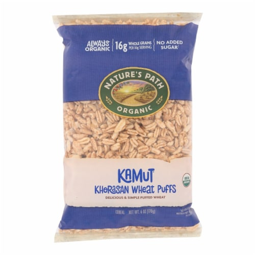 Nature's Path Organic Kamut Puffs Cereal - Case of 12 - 6 oz. Perspective: front
