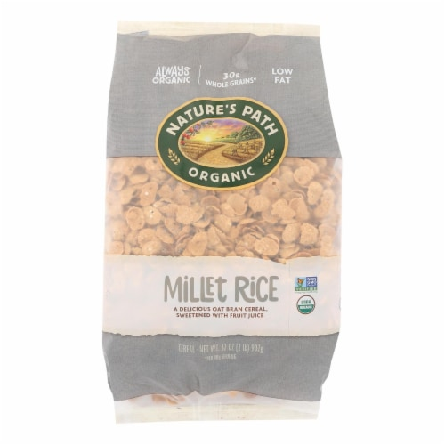 Nature's Path Organic Millet Rice Oat-bran Flakes Cereal - Case of 6 - 32 oz. Perspective: front