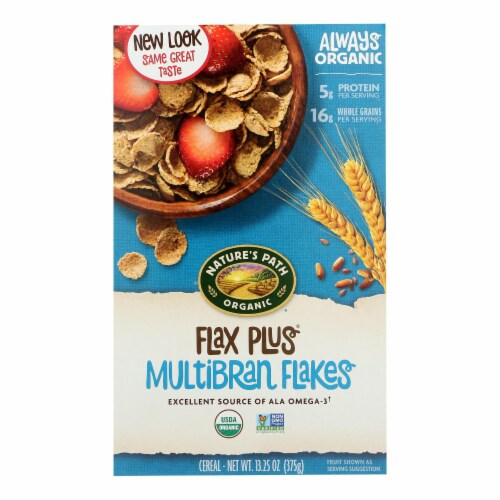 Nature's Path Organic Flax Plus Cereal - Multibran Flakes - 13.25 oz Perspective: front