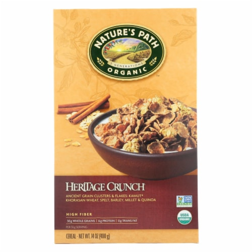 Nature's Path Organic Heritage Crunch Cereal - Case of 12 - 14 oz. Perspective: front