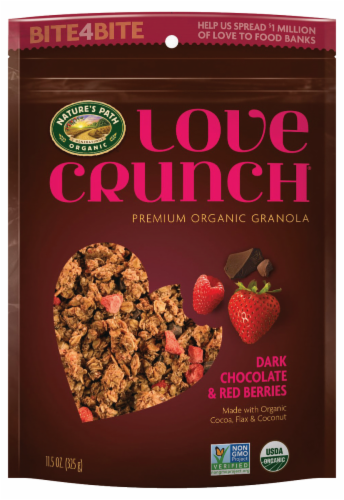 Nature's Path Love Crunch Organic Dark Chocolate & Red Berries Granola Perspective: front