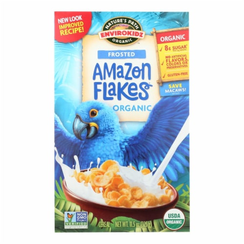 Envirokidz - Amazon Frosted Flakes - Organic - Gluten Free - Case of 12 - 11.5 oz Perspective: front