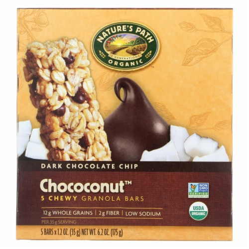 Nature's Path Organic Granola Bar - Chococonut - Case of 6 - 6.2 oz. Perspective: front