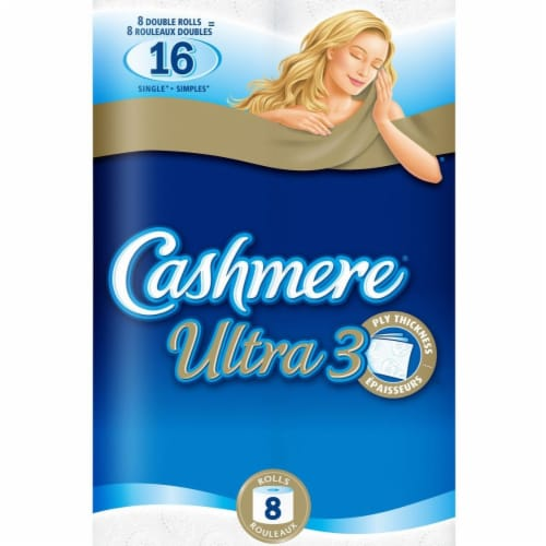 Cashmere 3-Ply Bathroom Tissue, Ultra 165 sheets/roll Perspective: front