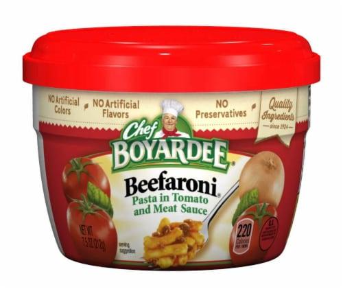 Chef Boyardee Beefaroni 7.5 Oz. Microwavable (12 Count) Perspective: front