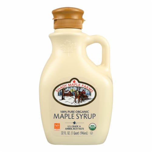 Shady Maple Farms 100 Percent Pure Organic Maple Syrup - Case of 6 - 32 Fl oz. Perspective: front