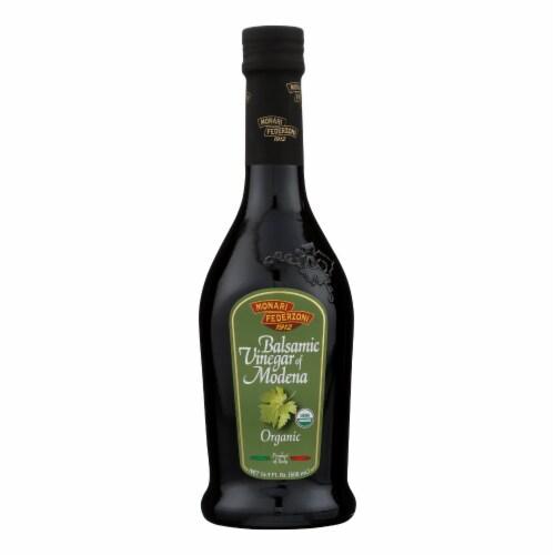 Monari Federzoni Balsamic Vinegar of Modena - Organic - Case of 6 - 17 Fl oz. Perspective: front