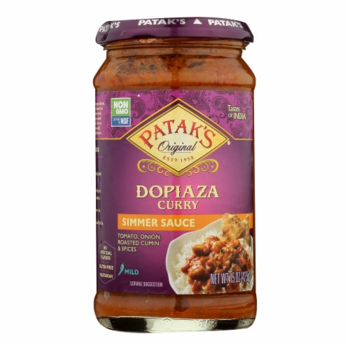 Pataks Simmer Sauce - Dopiaza Curry - Mild - 15 oz - case of 6 Perspective: front