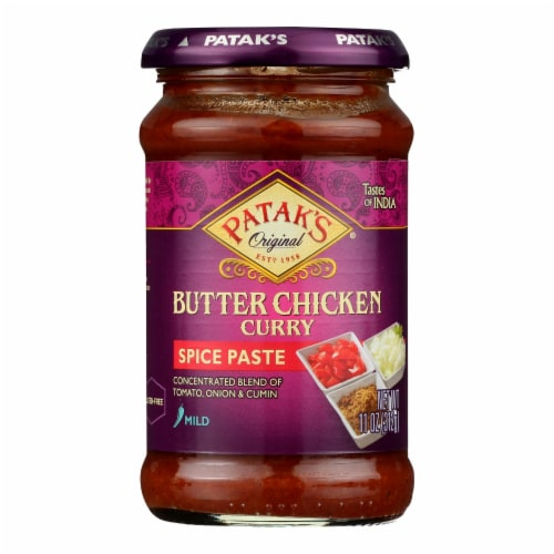 Patak's Concentrated Curry Paste For Butter Chicken - Case of 6 - 11 OZ Perspective: front