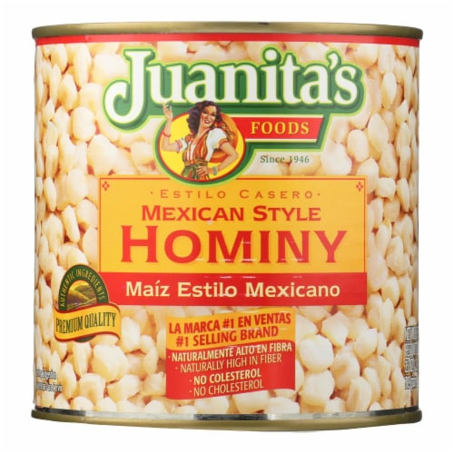 Juanita's® Foods - Hominy - Mexican Style - Case of 12 - 25 oz. Perspective: front