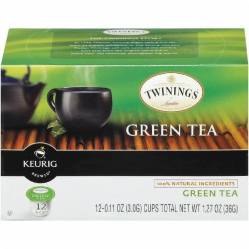 Twinings of London Green Tea 12 K-cups. (Pack of 6) Perspective: front