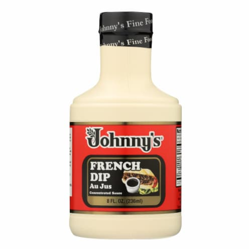 Johnny's - French Dip Au Jus Concentrated Sauce - Case of 6 - 8 oz. Perspective: front