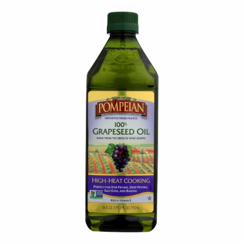 Pompeian 100% Grapeseed Oil  - Case of 6 - 24 FZ Perspective: front