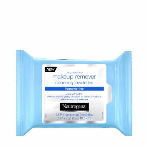 Neutrogena Fragrance-Free Makeup Remover Cleansing Towelettes Perspective: front