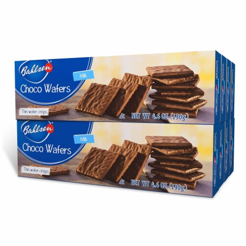 Bahlsen Choco Wafer Milk, 4.6oz (Pack of 8) Perspective: front