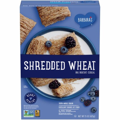 Barbaras Cereal Shredded Wheat, 15 oz (Pack of 12) Perspective: front
