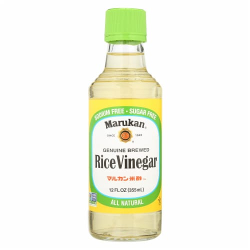 Marukan Rice Vinegar - Genuine Brewed - Case of 6 - 12 Fl oz. Perspective: front