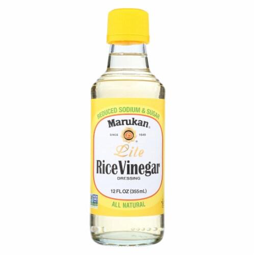 Marukan Rice Vinegar Lite - Seasoned Gourmet - Case of 6 - 12 oz. Perspective: front