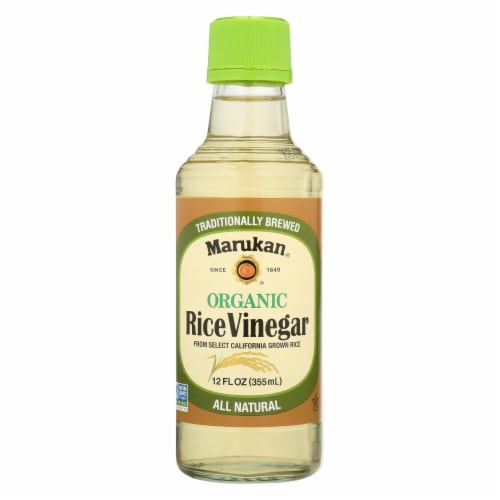 Marukan Organic Rice Vinegar - Case of 6 - 12 Fl oz. Perspective: front