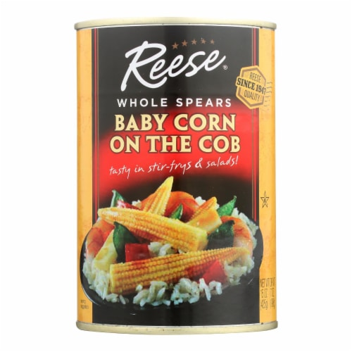 Reese Baby Corn On The Cob  - Case of 6 - 15 OZ Perspective: front