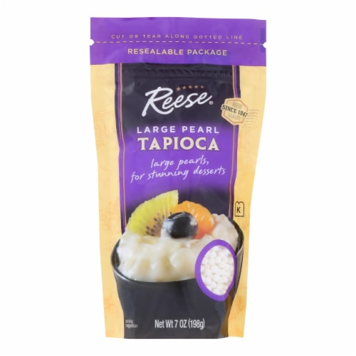 Reese Tapioca - Large Pearl - Case of 6 - 7 oz Perspective: front